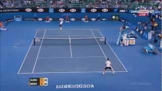 Djokovic vs. Berdych - Australian open 2013 QF Highlights