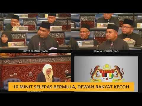 10 minit selepas bermula, Dewan Rakyat kecoh