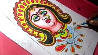 How to Draw Hindu Goddess Durga Devi Drawing Step by Step for Kids