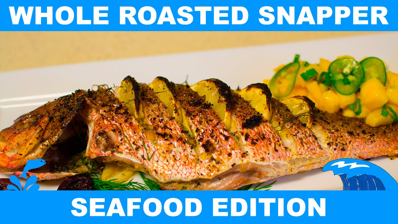 How to make a whole roasted snapper fish week youtube for How to cook a whole fish