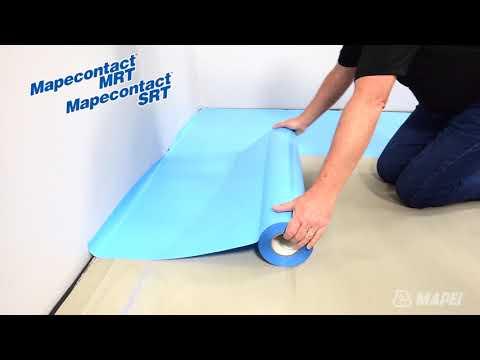 Moisture-Resistant Tape for Resilient Flooring Installation - Mapecontact MRT & SRT