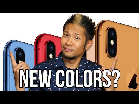 New iPhone X colors for 2018? New Macbook Pros & iPads coming soon!