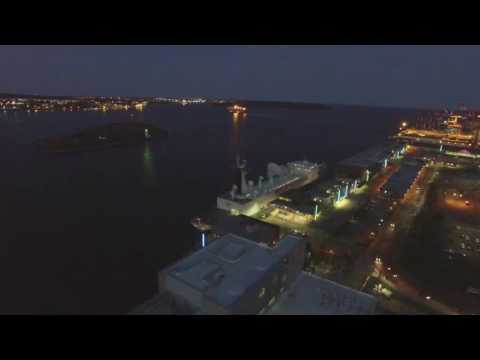 French ship in Halifax from drone