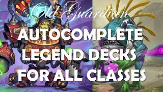 Hearthstone Legend autocomplete decks for all classes, June 2019 (Rise of Shadows)