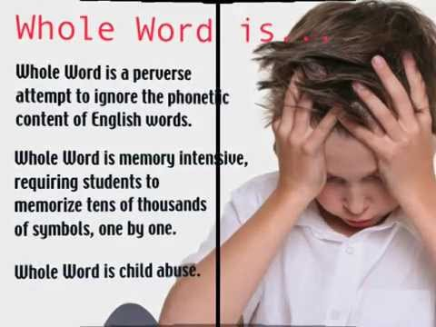 """phonics vs whole language teaching The phonics vs """"whole language"""" controversy the child is told to treat the """"whole word"""" as a primary  (is this teaching)."""
