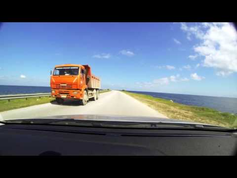 Driving to Cayo Santa Maria - Cuba