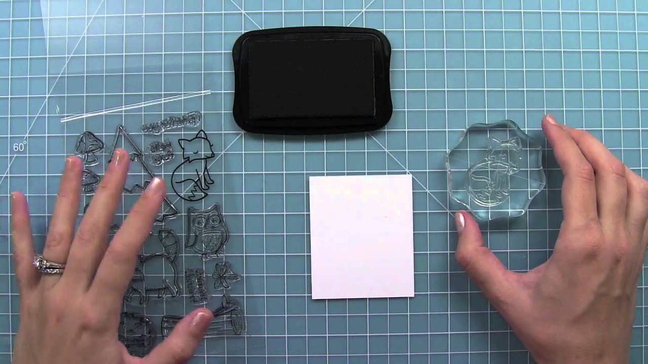 how to use clear stamps  YouTube