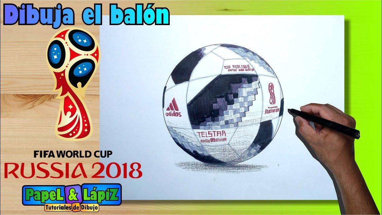 9dfd5d5dc9a34 Aprende a dibujar el balón oficial Rusia 2018 - YouTube