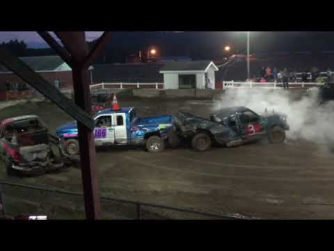 "The ""Run What Ya Brung"" Demolition Derby from the Oxford Fair in Oxford, Maine on September 14, 2017"