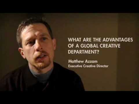 Matthew Azzam is explaining the advantages of a global creative department