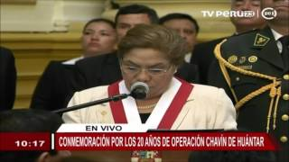 Congreso conmemora 20 años de operación de rescate Chavín de Huántar