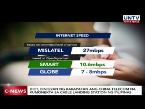 DICT, binigyan ng karapatan ang China Telecom na kumonekta sa cable landing station ng PH