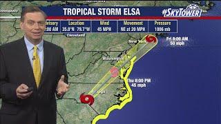 Tropical Storm Elsa forecast: Thursday, July 8