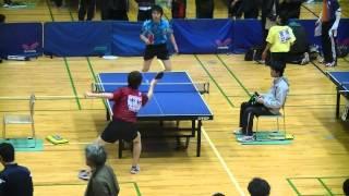 宝塚会長杯オープン卓球大会 準々決勝 中村圭介(立命館大)vs河辺(新日鐵)