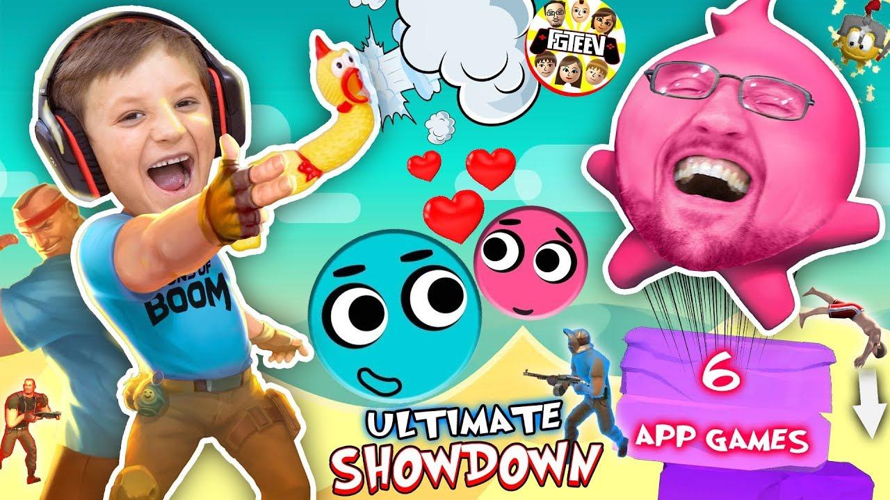 LOVE BALLS Challenge! FGTEEV MOBILE GAMES SHOWDOWN! Dad vs Son Gameplay/Skit