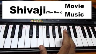 Learn (How) play Shivaji the boss theme music on keyboard or piano HD