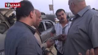 بالفيديو..خبراء المفرقعات يعاينون موقع انفجار القنبلة بكمين «مسطرد»