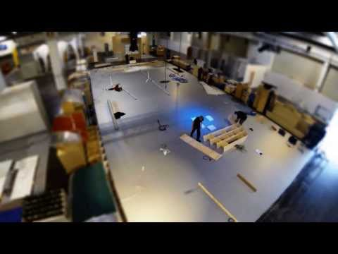 Timelapse of Kemppi Ice Breaker fair stand build
