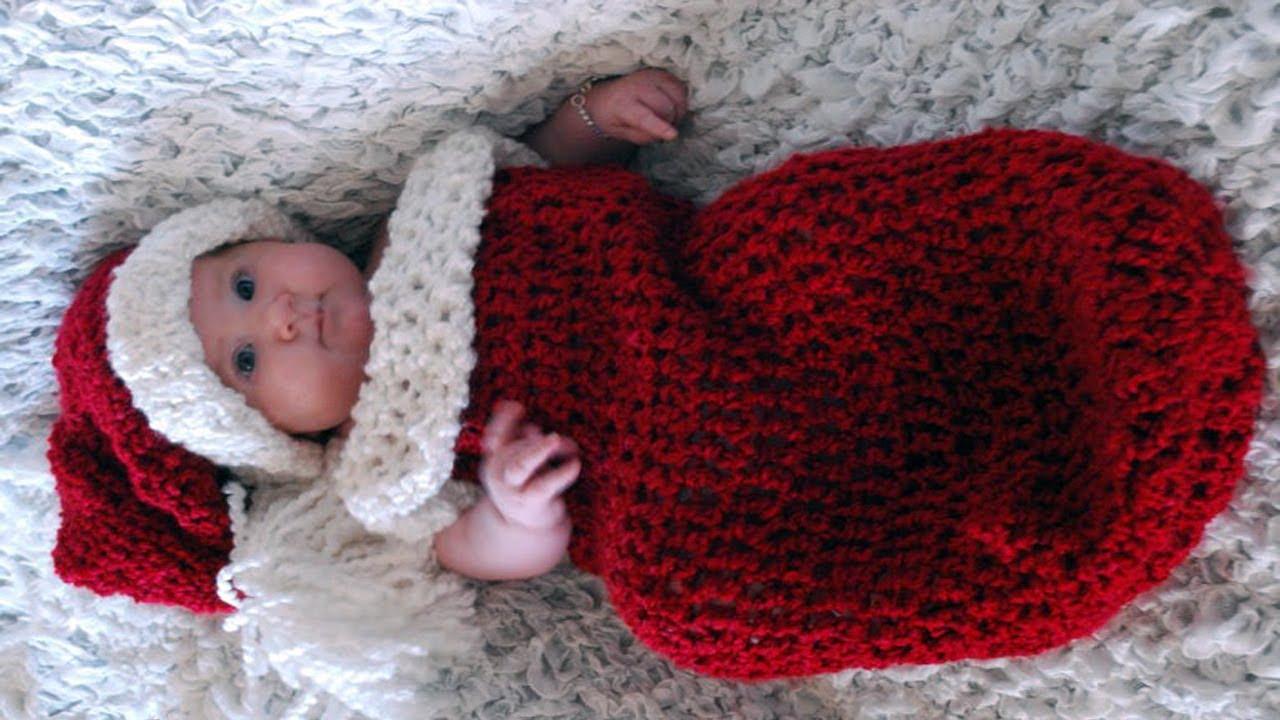 5064eb06e Crochet Baby Cocoon Christmas Santa IDEA - YouTube