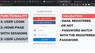 User Login and Logout system with Session in PHP and database using MySQLi in Hindi in 2020