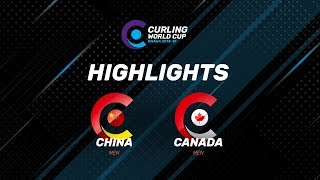 HIGHLIGHTS: Canada v China - Men - Curling World Cup second leg, Omaha, United States