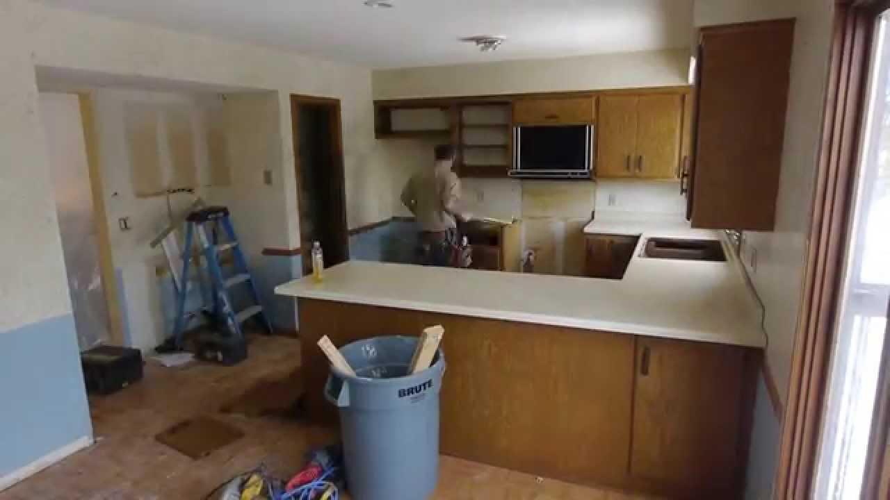 Great Kitchen Demolition By VanHeel Dream Builders   YouTube