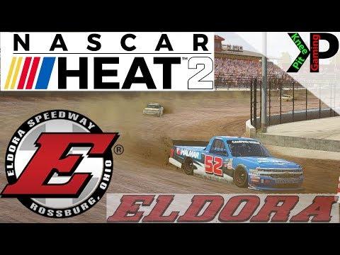 Nascar Heat 2 - Eldora Setup and Gameplay