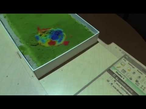 Soil moisture visualization using Tangible Landscape