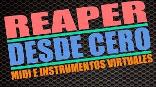 6.Grabar MIDI (I) Teclado Virtual MIDI /TUTORIAL REAPER