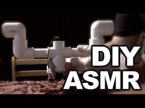ASMR DIY Binaural Microphone V2, tapping, scratch, whispering