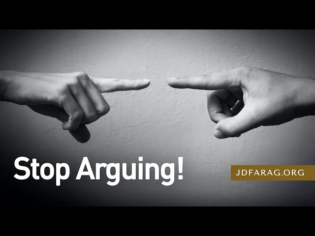 Stop Arguing! - 2 Timothy 2:14-26 – December 13th, 2020