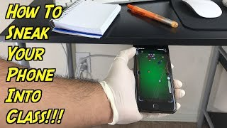 How To Sneak Your Phone Into Class - Use Your Phone While In Class (School Hacks) | Nextraker