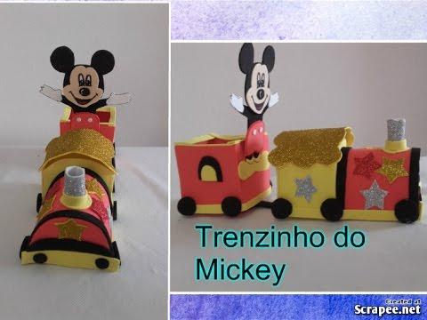 Como Fazer Trenzinho Do Mickey Em Eva Youtube