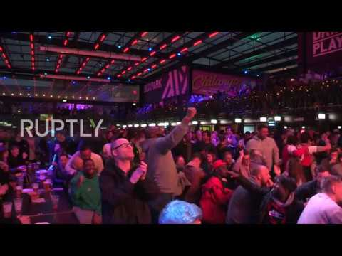 UK: Chelsea and Arsenal fans gather to watch Europa League final in London
