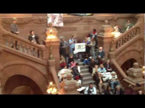 New York Student Uprising at the NYS Capitol Building (March 5th, 2012)