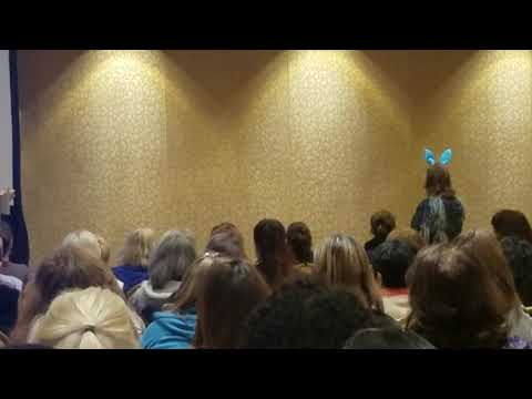 Ellen Booth Church Keynote Visit From Blue Bunny - YouTube