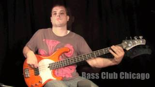 Bass Club Chicago Demos - Modulus Funk Unlimited 4 String Trans Orange