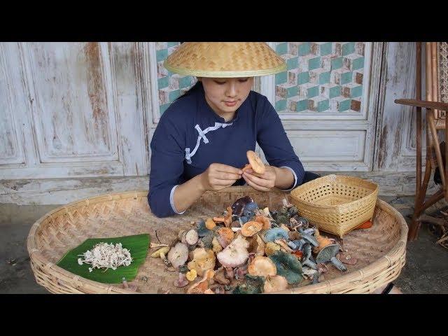 原汁原味野生菌,加上最基本的佐料烹饪,保留大自然的鲜美【滇西小哥】