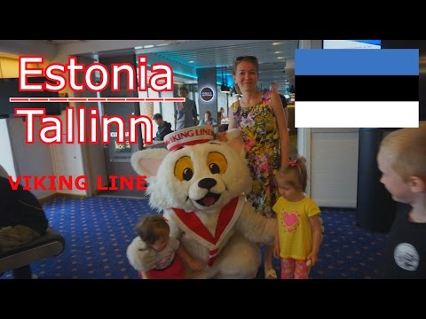 "Таллин Эстония Tallinn Estonia Круиз на корабле ""Viking XPRS "" по Балтийскому морю. Cruise ship"