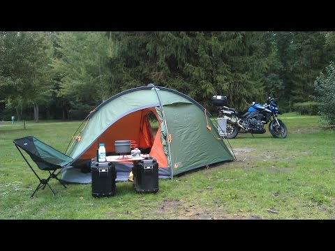 Motorcycle Camping Gear 'Comfortable Minimalist' Style