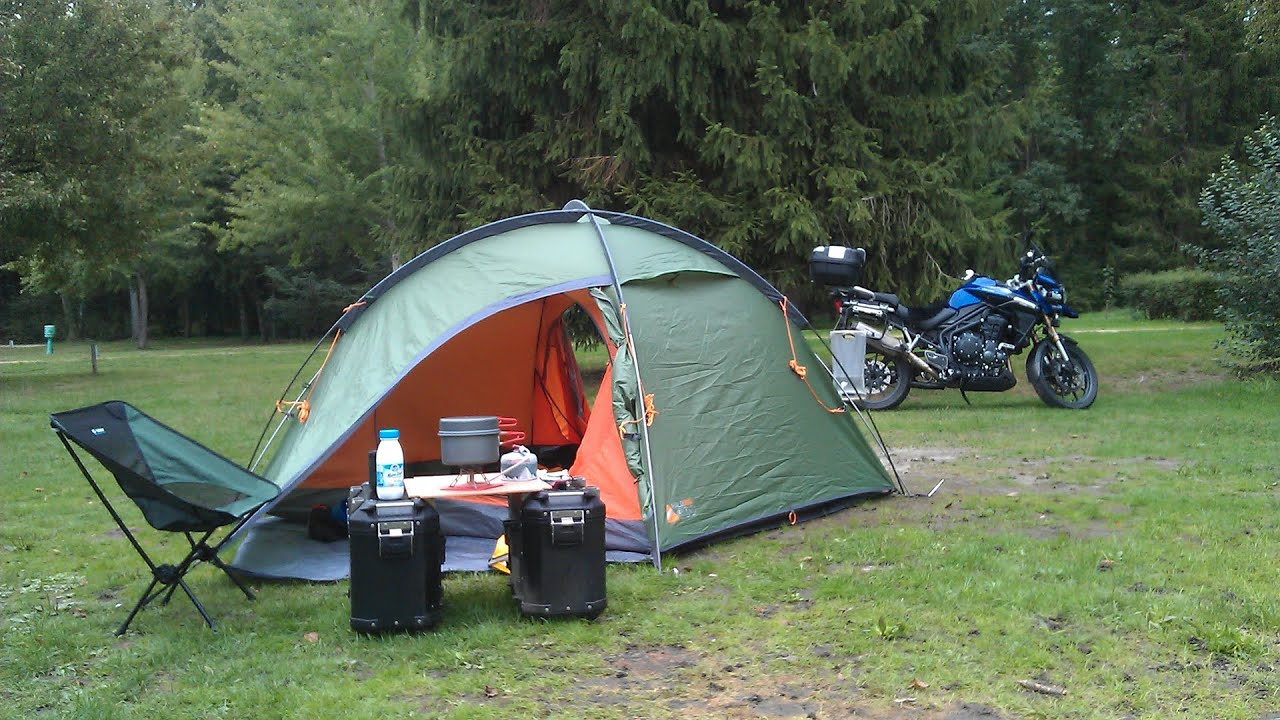 Motorcycle camping first timer gear guide - YouTube