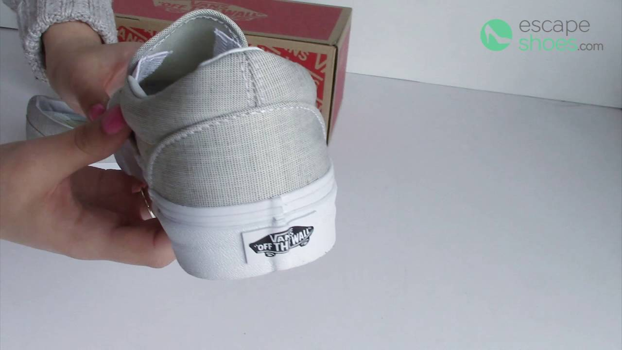 3c17b4f293 Sneakers VANS Classic Slip On Stripes Chambray Grey