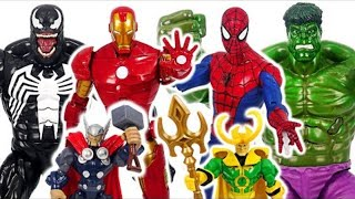 Marvel Avengers talking giant Hulk, Spider-Man, Iron Man VS Venom battle! #DuDuPopTOY