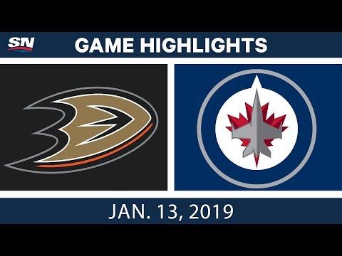 NHL Highlights | Ducks vs. Jets - Jan. 13, 2019