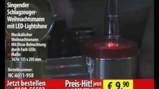 Playtastic Singender Schlagzeuger-Weihnachtsmann mit LED-Lig