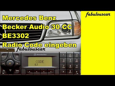 Radio code entry eingabe enter eingeben mercedes benz for Mercedes benz radio code