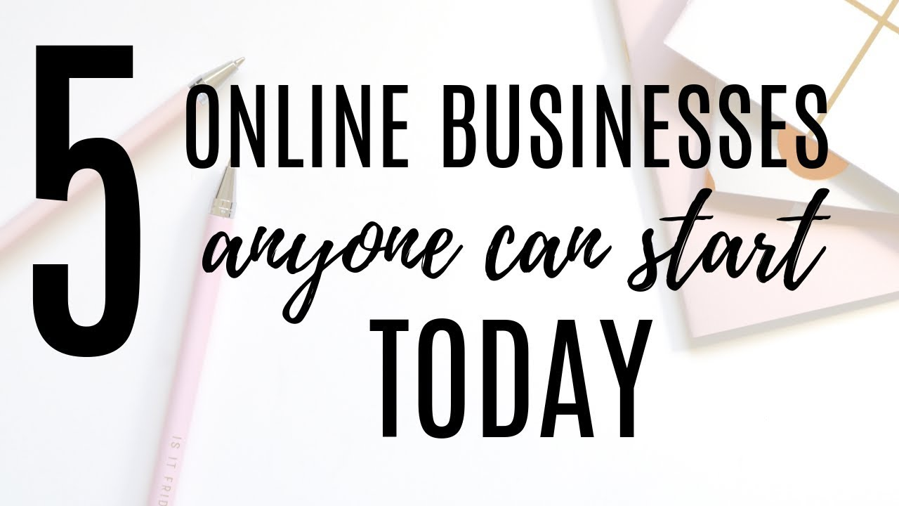 5 Online Business Ideas You Can Start TODAY // Make Money AT HOME in ...