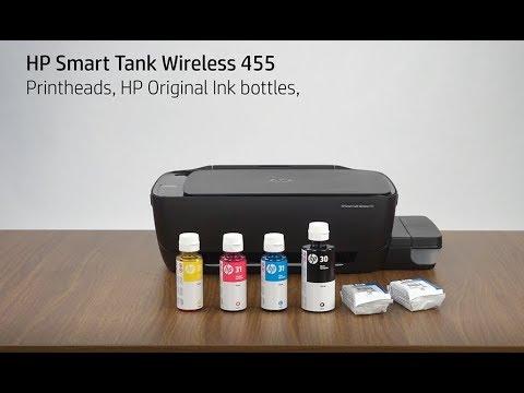 Unboxing Hp Smart Tank Wireless 455 Printer Hp Youtube
