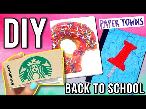 DIY NOTEBOOKS: STARBUCKS Notepad, Paper Towns & More!  ♥ Back to School
