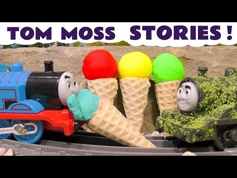 Thomas & Friends funny Pranks with Tom Moss Play Doh Stop Motion Ice Cream and Funlings TT4U